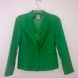 Anne Klein Kelly Green Blazer Jacket Size 6